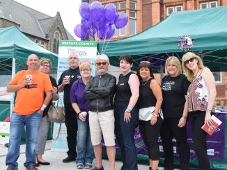 Activists from Merthyr and RCT UNISON getting ready for two days of staffing the stall.